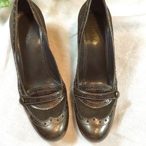 """Franco Sarto Bronze 2"""" Brogue Heels size 7 1/2"""